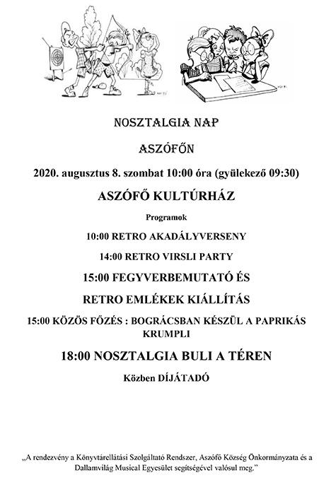 NOSZTALGIA NAP ASZÓFŐN- plakát
