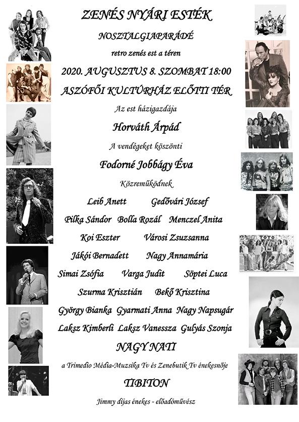 Nosztalgia koncert plakát